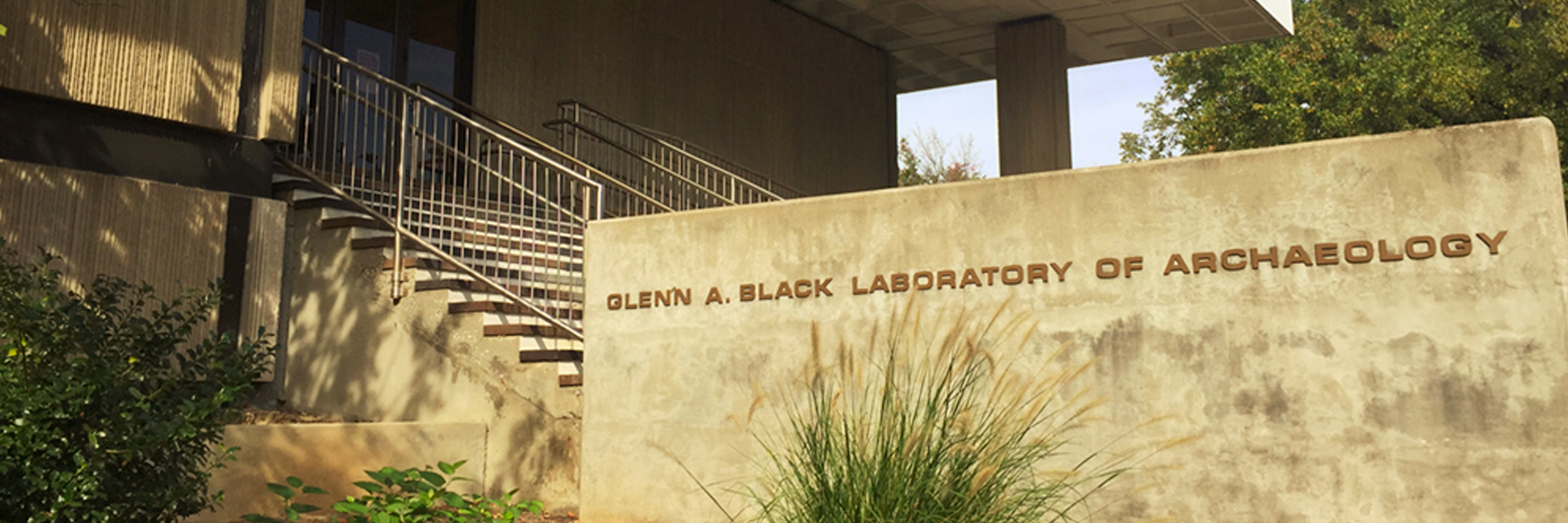 Entrance to the Glen A. Black Lab of Archaeology